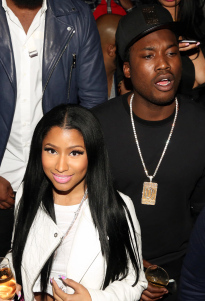 Nicki Minaj and Meek Mill at Fight Night, Las Vegas day party